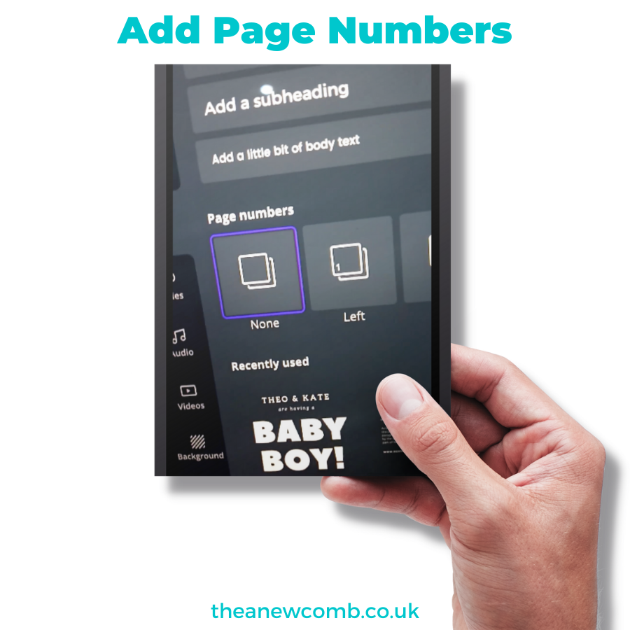 Add Page Numbers to Your Designs in Canva
