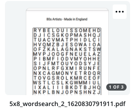 How importing a word search PDF imports into Canva