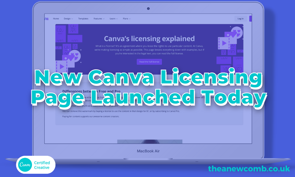 New Canva Licensing Page October 21