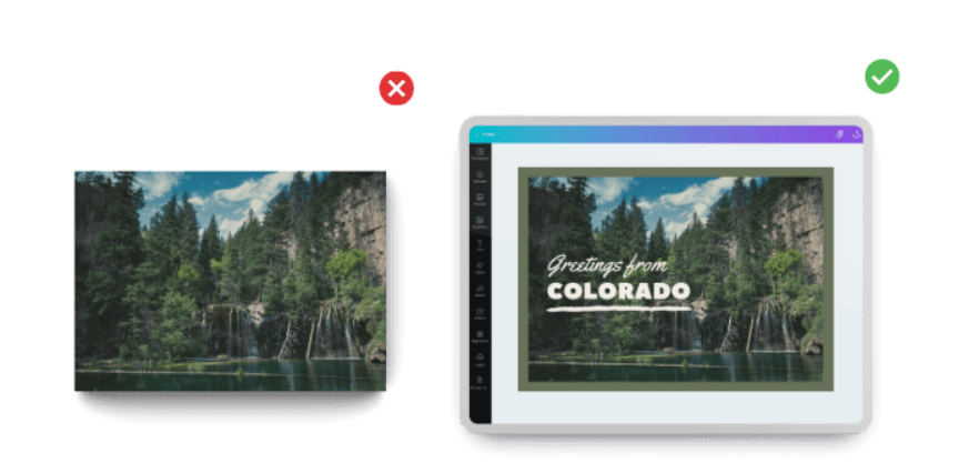 Alter your canva design before using it commercially