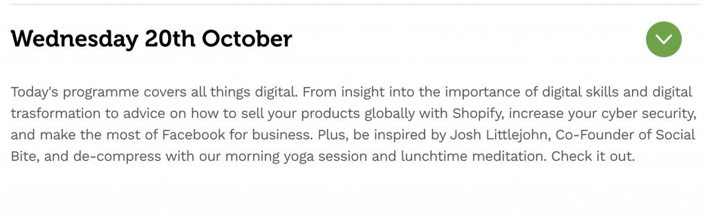Scottish Business Week Wednesday Programme