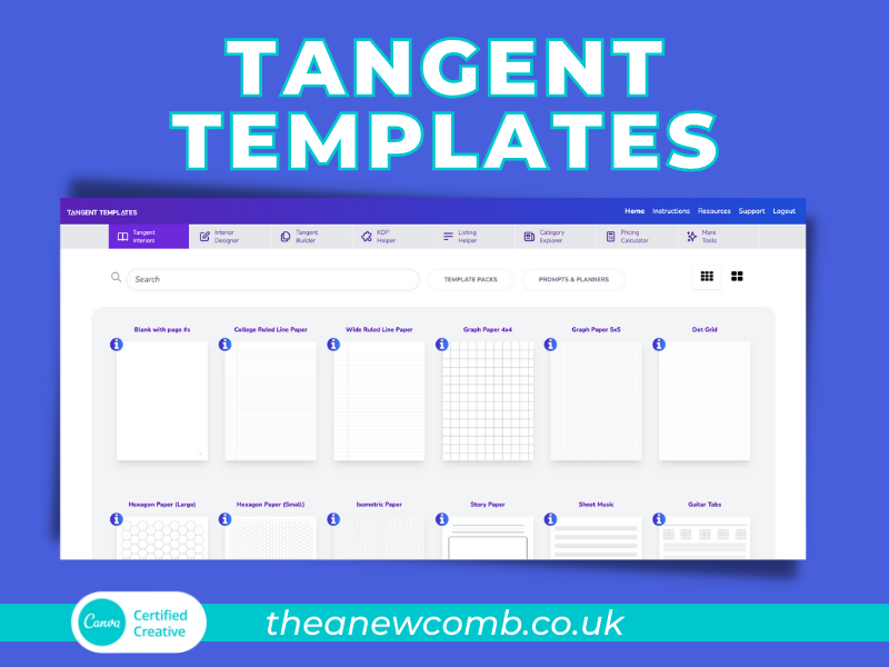 One of the best tools to create KDP books - Tangent Templates