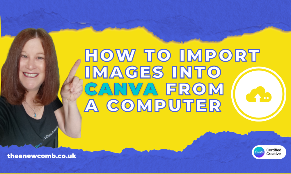 How to import images into canva - also audio and video too